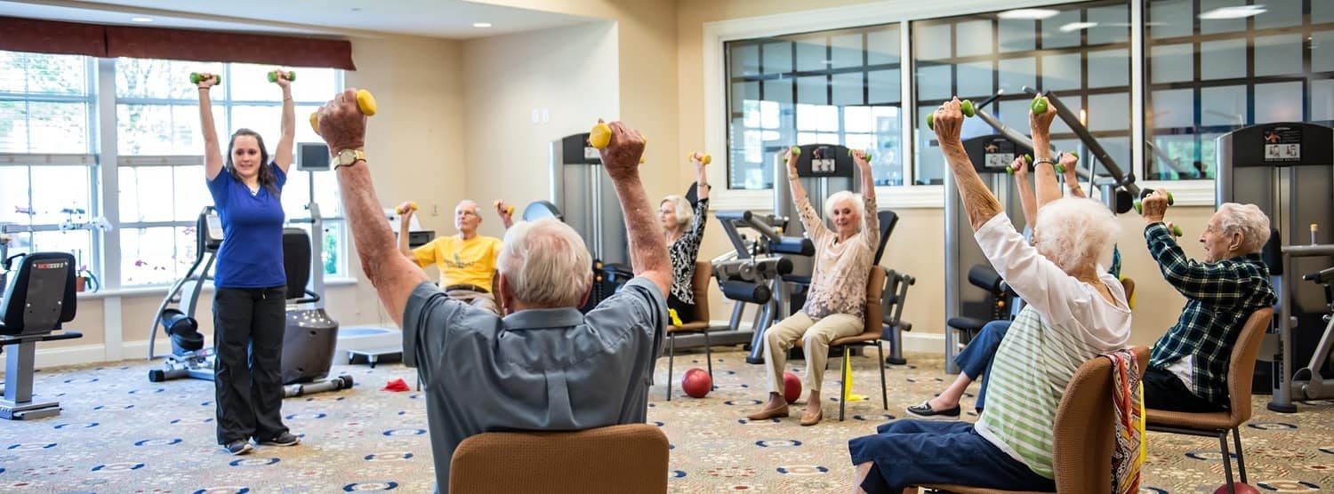 Wellness exercise class offered at Sterling Estates West Cobb in Marietta Georgia